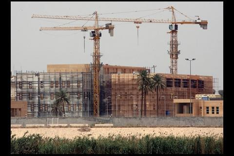 America's $600m (£400m) embassy under construction in Baghdad